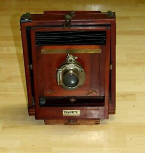 ANTIQUE 8x10 ROCHESTER CAMERA MFG CO FAVORITE CAMERA BRASS LENS GUNDLACH OPTICAL