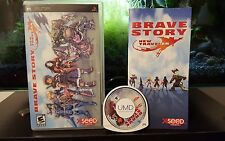 Brave Story: New Traveler (Sony PSP, 2007) COMPLETE standard edition XSEED