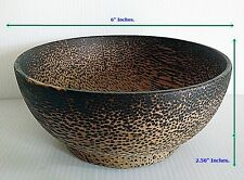 """Palm Wood Wooden  Utensil Soup Bowl Rice Handicraft Vintage 6"""" Inches New"""