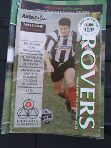 Forest Green Rovers Home Football Programmes 1998-2008 You Select