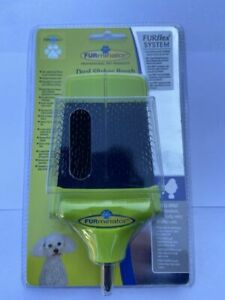 FURMINATOR FURFLEX DOG GROOMING DUAL SLICKER BRUSH FOR SMALL DOGS