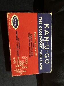 Kan-u-go 1934 vintage Crossword Card Game VGC Complete with instructions
