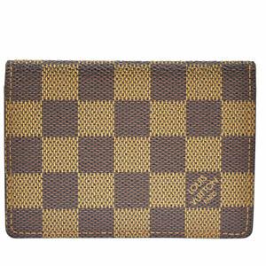 Auth Louis Vuitton Damier Porto 2 Cult Vertecal PVC Leather Travel Pass  01GD029