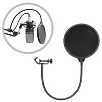 Double Layer Recording Studio Microphone Pop Filter Mic Wind Screen Mask Shield