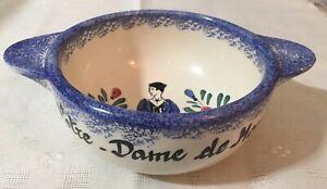 Notre Dame De Monts Bowl , Peint Main Pottery