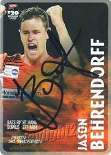 Autographed Perth Scorchers Cricket Trading Cards