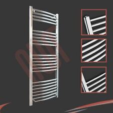 500mm(w) x 1200mm(h) Curved Chrome Heated Towel Rail 2130 BTUs Radiator Warmer