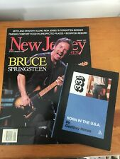 Bruce Springsteen book & New Jersey Magazine with Bruce on Cover