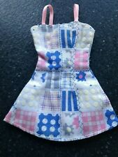 Mini Vestido Vintage Mattel Muñeca Barbie-efecto de retazos-Pink Label