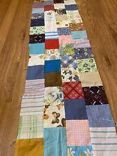 Quilt Blocks 3-1/4� Squares Sewn Into 4 Blocks X 85� Long Piece.