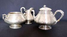 Service à thé café en argent massif de FRAY FILS 3 pièces 1098 gr fin XIXe