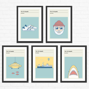 Wes Anderson, The Life Aquatic Poster Set Minimalist Movie Poster