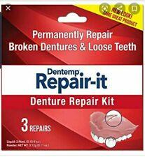 Dentemp Denture Repair Emergency Denture Repair Kit x 3 repairs - Great Price