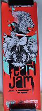 Pearl jam Adelaide Australia 2014 tour poster Joram roukes
