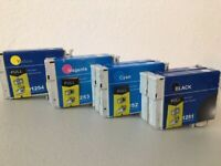 8PK T125 BK C M Y Ink Cartridge for Epson Stylus NX130 NX230 NX625 WF520 325 320