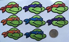TEENAGE MUTANT NINJA TURTLE patches lot of 8 pieces, iron-on