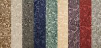 "Chenille floral Shelby Drapery Upholstery home fabric the yard 56"" Wide 9 COLORS"