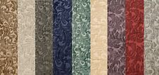 """Chenille floral Shelby Drapery Upholstery home fabric the yard 56"""" Wide 9 COLORS"""