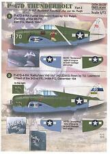Print Scale Decals 1/72 REPUBLIC P-47D THUNDERBOLT American WWII Fighter Part 2