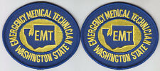 Washington WA State EMT Emergency Medical Technician GOLD/ROYAL BLUE  2 patches
