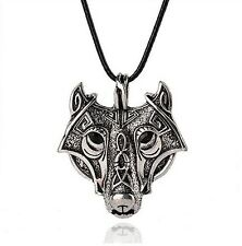 Wolf Pendant Viking Celtic Tribal Style Native American Wolf Pendant Necklace