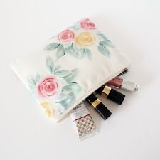 MYLIORA Floral Zip Pouch Cosmetic Purse Toiletry Canvas Make-up Travel Bag