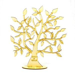 Stammbaum aus Holz, 28cm, Familie Geschenk Lebensbaum Familien Chronik graviert