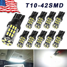 10x 6000K White T10 42-SMD LED Backup Reverse Light Bulbs W5W 194 192 921 2825