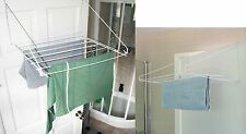 7m Drying Space Folding Indoor Clothes Horse Airer Laundry Washing Dryer WHT