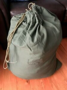 LOT OF 2 US Army BARRACKS BAG OD Green 100% Cotton Large Laundry Bag Military