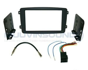 Radio Stereo Installation Dash Kit Combo 2DIN + Wire Harness + Antenna MB7