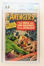 Avengers #3 - Marvel 1964 CGC 5.0 1st Hulk and Sub-Mariner team-up!