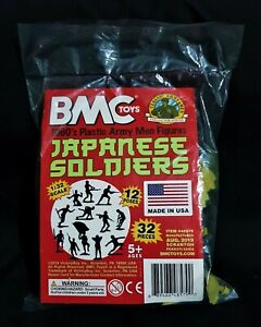 BMC 54MM JAPANESE INFANTRY 32 FIGURES  BRAND NEW IN BAG,  NEVER BEEN OPENED.
