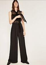 4375acb41c4 Zara CONTRAST PALAZZO JUMPSUIT Size S