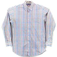 Peter Millar Crown Finish Men's Medium Multicolor Plaid LS Button Down Shirt euc