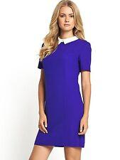 BNWT Definitions Cobalt Blue Contrast Collar Dress Size 20 RRP £44