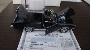 65 PONTIAC GTO DANBURY MINT w/ BOX & TITLE 1965 NIGHTWATCH BLUE
