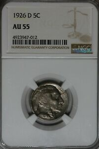 1926-D  .05  NGC AU55 Buffalo Nickel