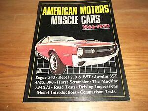 Book. American Motors Muscle Cars 1966-70. Brooklands. Rogue Javelin Hurst AMX