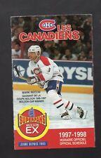 1997-98 MONTREAL CANADIENS POCKET SCHEDULE