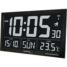 Technoline WS8007 Extra Large Black Digital Weather Clock