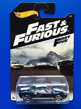 2016 Hot Wheels FAST AND FURIOUS DARK BLUE 1965 FORD GT-40 - Mint on card
