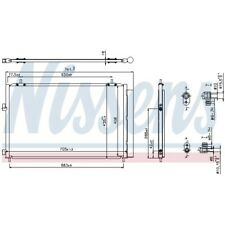 1 Condenseur, climatisation NISSENS 940349 convient à TOYOTA