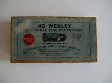 Empty ! Rare ! 2-Pc Ammo Box Remington Umc. 45 WebleyC.F. Cartridges Poor Shape!