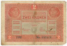 AUSTRIA, ÖSTERREICH - 2 Kronen 1. 3. 1917. P21 (A010)