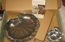 NIB Wilton Armetale Clam Shell Appetizer Serving Dish Bowl with Small Sauce USA