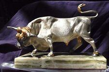 PIERO BENZONI GOLD AND SILVER BULL SCULPTURE