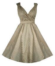 Cotton V-Neck Regular Size Sleeveless Dresses for Women