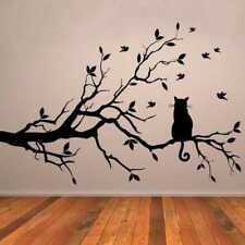 Cute Removable Vinyl Art Wall Sticker Tree Branch Cats Mural Decals Home Decor