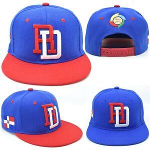Dominican Republic DR Republica Dominicana RD Snapback Hat Cap Royal Red NEW